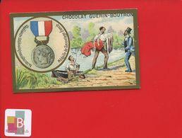 GUERIN BOUTRON Chromo Médaille FRANCE Sauvetage Noyade 3 ème République Hérold - Guerin Boutron