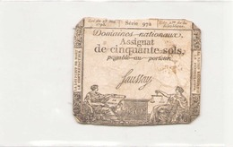 Assignat De 50 Sols 1793, Série 972 - Assignats