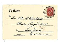 RUSSIE EMPIRE CARTE POUR LES USA DU 15/8/1904 - Cartas