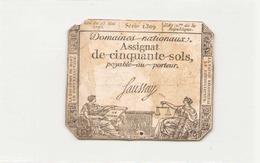 Assignat De Cinquante Sols ( L'an 2 ème De La République ) Série 1309 - Assignats