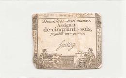 Assignat De Cinquante Sols ( L'an 2 ème De La République ) Série 947 - Assignats