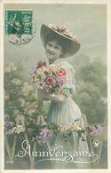 Belle Jeune  Femme     -  Anniversaire                     S796 - Anniversaire