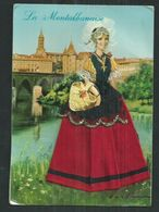 Carte Fantaisie Brodée Costume Régionaux.La Montalbanaise (Tarn Et Garonne) - Borduurwerk