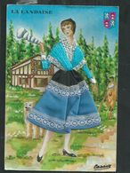Carte Fantaisie Brodée Costume Régionaux.La Landaise (Landes) - Bestickt