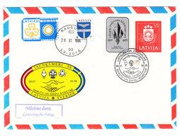 Latvia JAUNKEMERI Sweden BOY SCOUTS COVER 1996 - Scoutismo