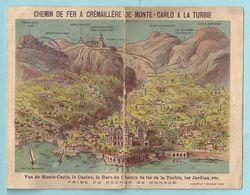 Chemin De Fer A Cremaillere De Monte-carlo A La Turbie FRANCE ITALY 1890 MONTE CARLO - Tamaño Pequeño : 1901-20