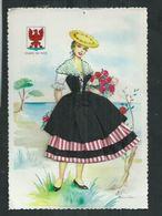 Carte Fantaisie Brodée Costume Régionaux.Le Comté De Nice (Alpes Maritimes) - Brodées