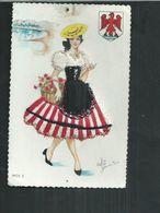 Carte Fantaisie Brodée Costume Régionaux. Nice (Alpes Maritimes) - Brodées