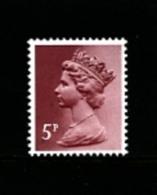 GREAT BRITAIN - 1982  MACHIN  5p. PCP  PERF. 13 1/2x14 MINT NH  SG X1004 - 1952-.... (Elisabetta II)