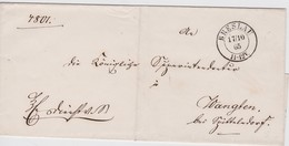 NORDDEUTSCHER BUND 1865 LETTRE DE BRESLAU - North German Conf.