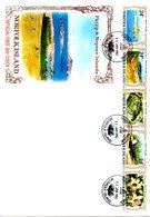NORFOLK. N°272-81 Sur 2 Enveloppes 1er Jour (FDC) De 1982. Iles Philip Et Nepean. - Isola Norfolk