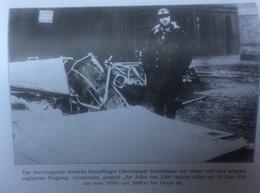 Photos Allemandes Recto Verso -327 Immelmann L'aigle De Loille Aiateur - Restes Avion Douai - Optica