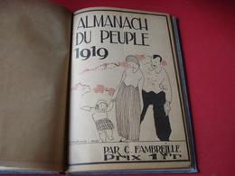 ALMANACH 1919  L 'AGENDA DU PEUPLE - Calendars