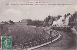 Bn - Cpa SAINT BRIEUC - Nouveaux Boulevards - Palais De Justice - Vieille Prison Et Gare Départementale - Saint-Brieuc