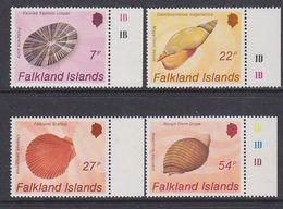 Falkland Islands 1986 Shells 4v (+margin) ** Mnh (37823A) - Falklandeilanden