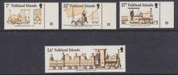Falkland Islands 1985 70th Anniversary Of Camber Railway 4v ** Mnh (37823F) - Falklandeilanden