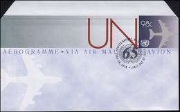 UNO New York Luftpostfaltbrief LF 24 Flugzeug 98 Cent 2010, FDC 28.6.2010 - New York - Hoofdkwartier Van De VN