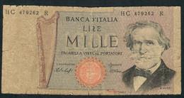 ITALY P101e 1000 LIRE  26.2.1969  VG - [ 2] 1946-… : République