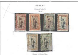 Uruguay PO 1919 Statua Libertà  Scott.217/222 Nuovi See Scans On Scott.Page - Uruguay