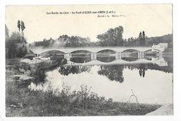Le Pont D'AZAY Sur CHER  (cpa 37)  Les Bords Du Cher  - L 1 - Francia