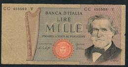 ITALY P101e 1000 LIRE  26.2.1969  FINE - [ 2] 1946-… : République