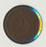 Deutsches Reich Jägernr: 2 1874 C Sehr Schön Bronze 1874 2 Pfennig Kleiner Reichsadler (7849310 - [ 2] 1871-1918: Deutsches Kaiserreich