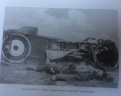 Photos Allemandes Recto Verso -347 Gros Projecteur - Aviateur Anlais Mort Douai Juillet 18 - Optics