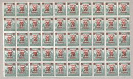 Hungary 1922 5 X Half Sheets MNH Reaper Stamps Overprints - Blocks & Sheetlets