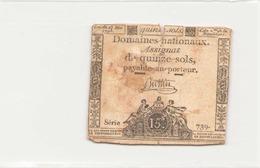 Assignat De Quinze Sols ( L'an 2 ème De La République ) Série 739 - Assignats