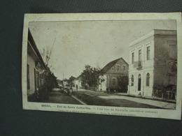 Cpa BRESIL Etat De Santa Catharina  Une Rue De Joinville Ancienne Colonie. Recto-verso - Brésil