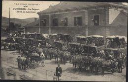 CPA Le Velay Illustré 926 Dunières Le Départ Pour La Louvesc Diligences Circulée 1906 - France