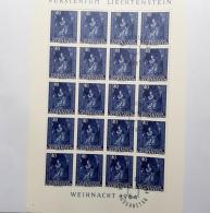 LIECHTENSTEIN LOT 18 KLEINBÖGEN Feuillet Bloc 1964 1965 ** MNH / O  SUPER ETAT - Blocs & Feuillets