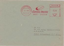 RFA 1956 LETTRE DE NÜRNBERG EMA THEME BEURRE   FROMAGE CORENZ MERKL - Marcophilie - EMA (Empreintes Machines)