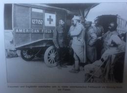 Photos Allemandes Recto Verso -365 Anglais Et Français Ambulance Américaine  - Cambrai 1918 Ruines - Optics
