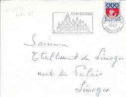 DORDOGNE 24   - PERIGUEUX  - FLAMME N° 1592 -  VOIR DESCRIPTION - 1967 - - Postmark Collection (Covers)