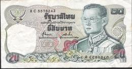 THAILAND P88 20 BAHT 1981 Signature 72 VF NO P.h. ! - Thailand
