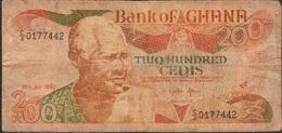 GHANA P27e 200 CEDIS 1990 FINE ,dust And 2 P.h. ! - Ghana