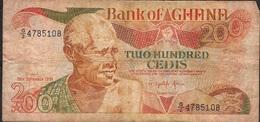GHANA P27f 200 CEDIS 1991 FINE ,dust But NO P.h. ! - Ghana