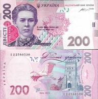 Ukraine 2014 - 200 Hryven - Pick 123 UNC (Signature - Gontareva) - Ukraine