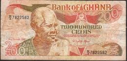 GHANA P27g 200 CEDIS 1992 FINE ,  1 P.h. - Ghana