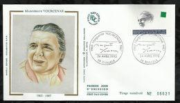 MARGUERITE YOURCENAR . 24 AVRIL 1993 . BAILLEUL . - FDC