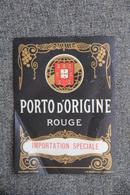 PORTO D'ORIGINE ROUGE - Etichette