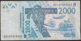 W.A.S. BENIN P216Bc 2000 FRANCS (20)05  FINE NO P.h. - États D'Afrique De L'Ouest