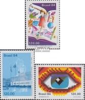 Brasilien 2075,2076,2077 (kompl.Ausg.) Postfrisch 1984 Tag Des Buches, Münze, Informatik - Brasilien