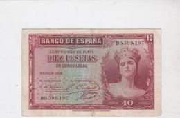 BANCO DE ESPANA, Diez Pesetas, émission 1935 - [ 2] 1931-1936 : Repubblica