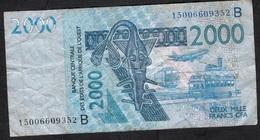 W.A.S. BENIN P216Bo 2000 FRANCS (20)15 FINE NO P.h. - États D'Afrique De L'Ouest