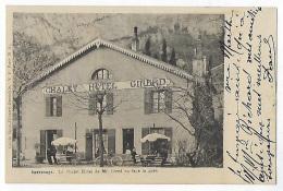 CPA 38 Isère Sassenage Très Rare Le Chalet Hôtel De Mr Gired Ou Girerd En Face De La Gare Près Grenoble Villard De Lans - Sassenage