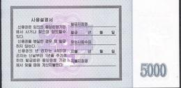 NORTH KOREA BOND NLP 5000 WON 2003  UNC. - Korea, North