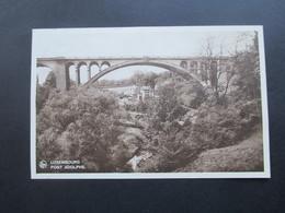 AK Luxemburg 1940 Pont Adolphe. Besetzung 2.WK Frankatur Nr. 1 Hindenburg Aufdruck Senkrechtes Unterrandpaar! - Luxemburg - Stadt