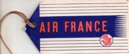 étiquette De Bagage Air France Ca 1955 - Étiquettes à Bagages